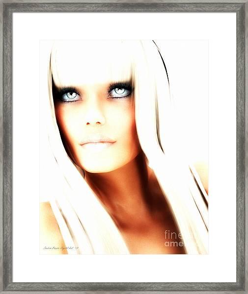 Aurya Framed Print by Sandra Bauser Digital Art