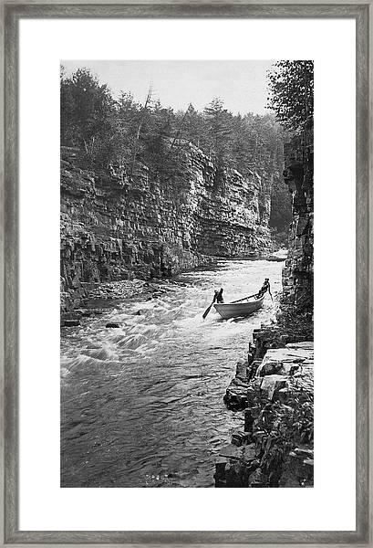Ausable River Rapids Framed Print