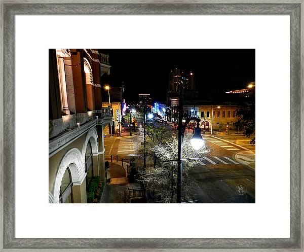 Framed Print featuring the photograph Austin Hdr 002 by Lance Vaughn