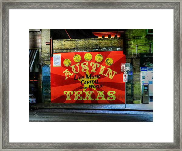 Framed Print featuring the photograph Austin Hdr 006 by Lance Vaughn