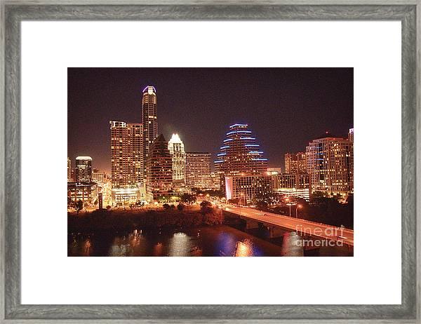 Austin Lights The Night Framed Print