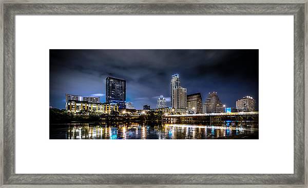 Austin Skyline Hdr Framed Print