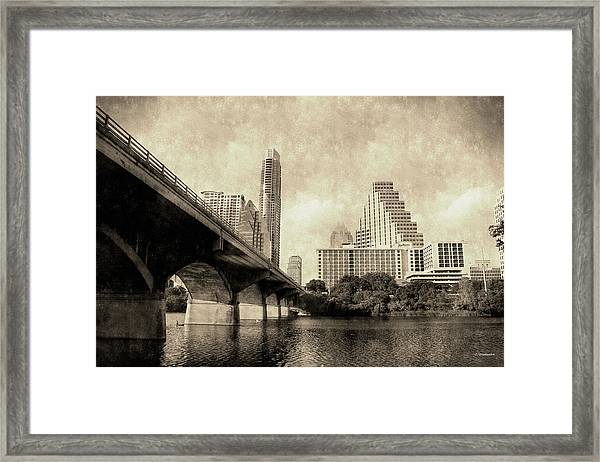 Austin Texas Vintage Framed Print