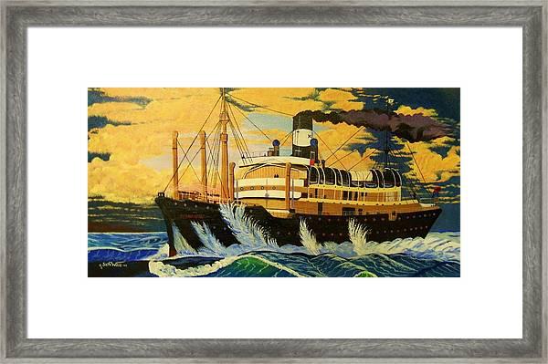 Australia's Titanic--the Ss Waratah Framed Print