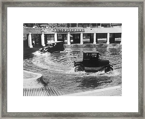 Auto Wash Bowl Framed Print