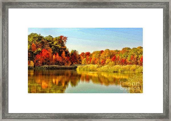 Autumn Ablaze Framed Print