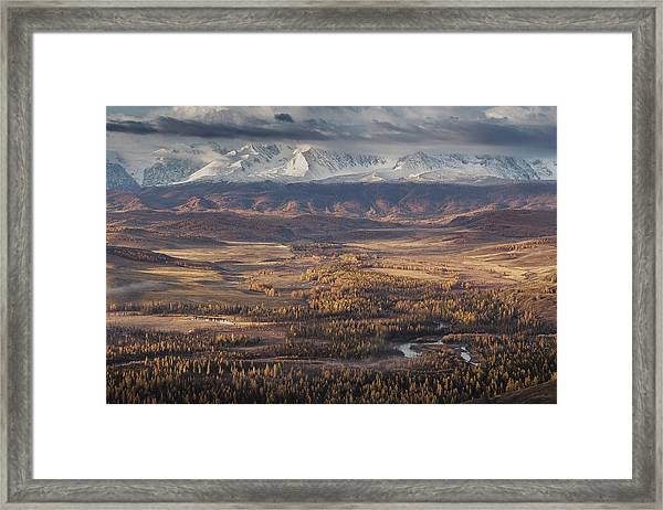 Autumn Altai Mountains Framed Print by Dmitry Kupratsevich