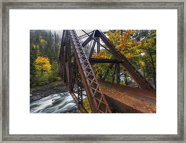 Autumn And Iron Framed Print