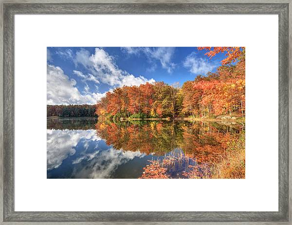Autumn At Boley Lake Framed Print