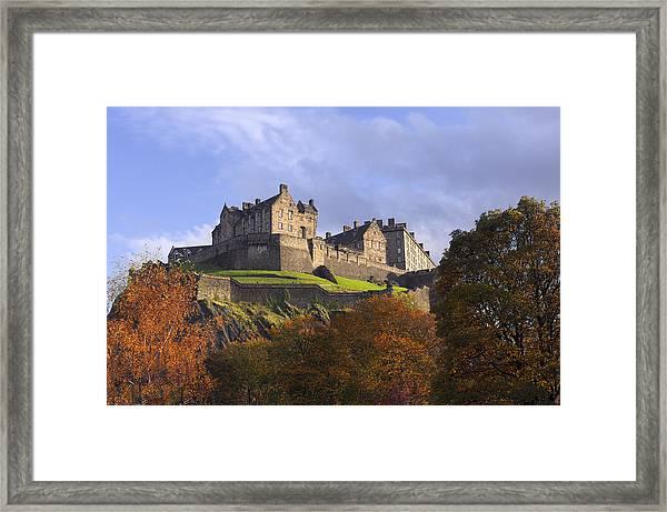 Autumn At Edinburgh Castle Framed Print