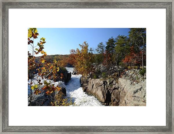 Autumn At Great Falls Framed Print