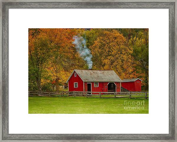 Autumn At Hale Farm Framed Print by Joshua Clark