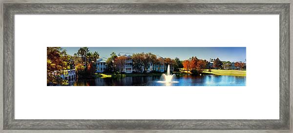 Autumn At Old Key West Resort Panorama Walt Disney World Framed Print
