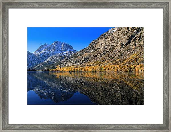 Autumn At Silver Lake Framed Print