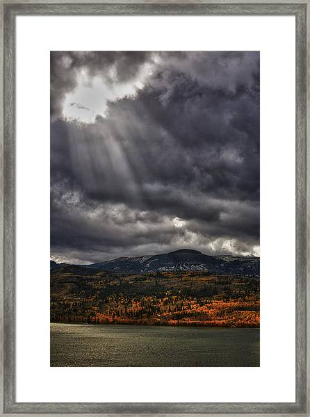 Autumn Beams Framed Print