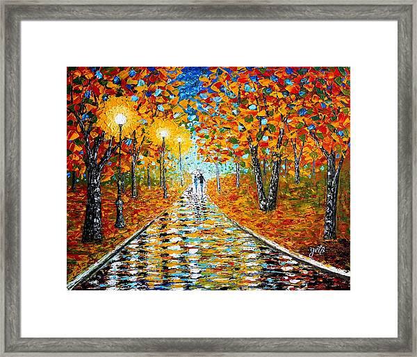 Autumn Beauty Original Palette Knife Painting Framed Print