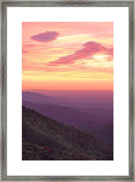 Autumn Blue Ridge Sunrise Framed Print