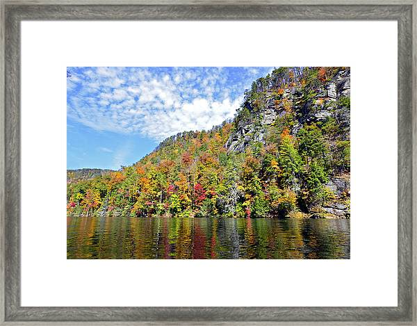 Autumn Colors On A Lake Framed Print