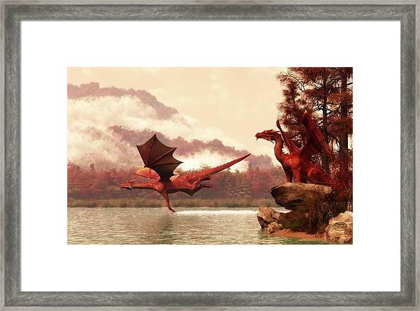 Autumn Dragons Framed Print