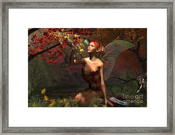 Autumn Fairy Framed Print