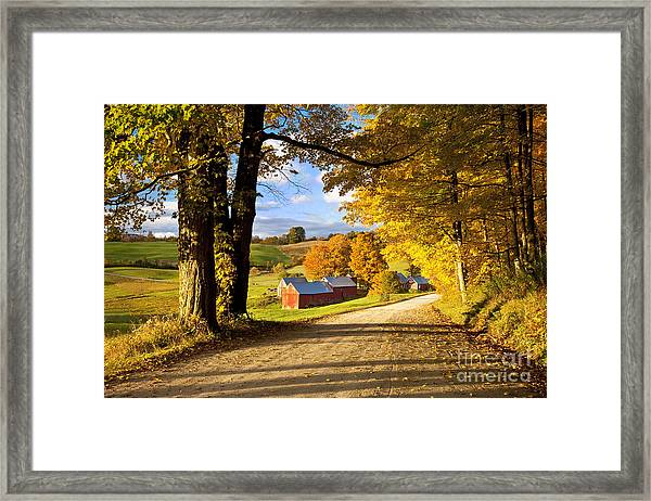 Framed Print featuring the photograph Autumn Farm In Vermont by Brian Jannsen