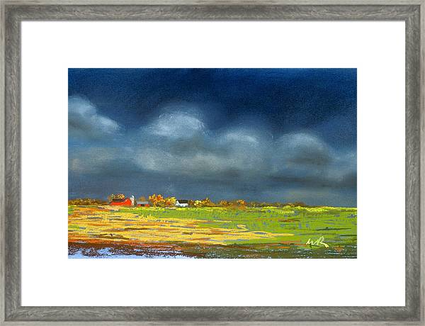 Autumn Farm Framed Print