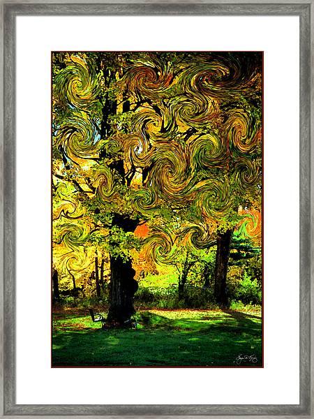 Autumn Firestorm Framed Print