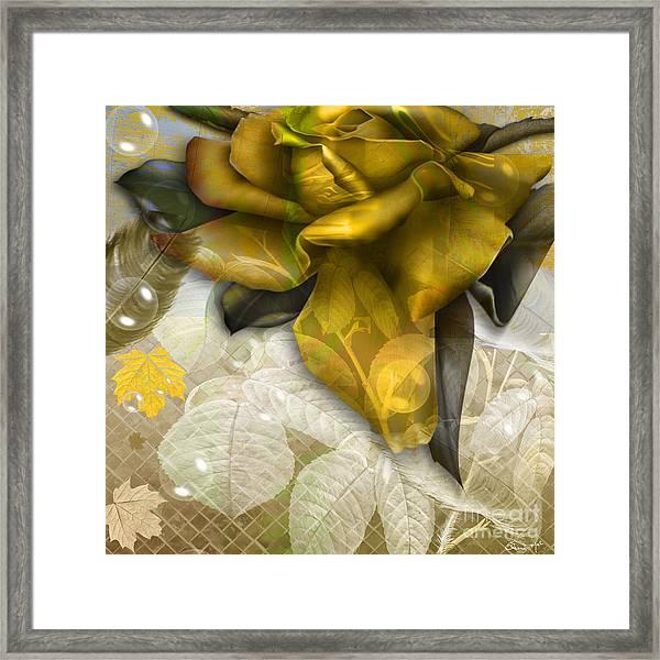 Framed Print featuring the digital art Autumn Flower by Eleni Mac Synodinos