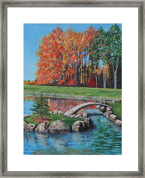 Autumn Glory At The Arboretum Framed Print by Penny Birch-Williams