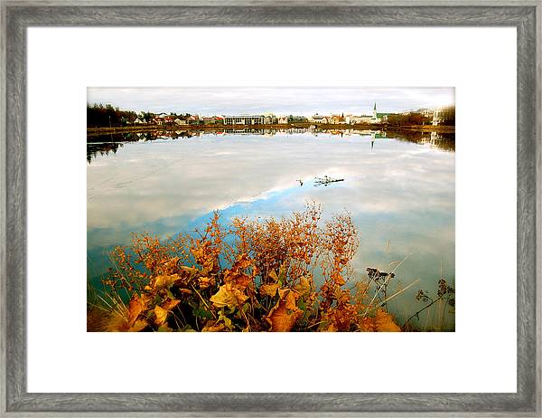 Framed Print featuring the photograph Autumn Ice by HweeYen Ong