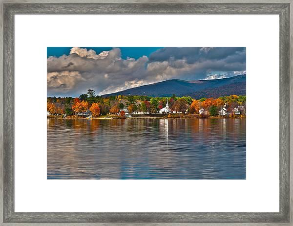 Autumn In Melvin Village Framed Print