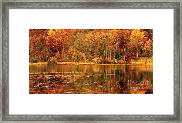 Autumn In Mirror Lake Framed Print