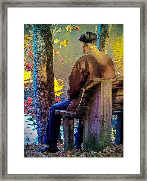 Autumn In Our Lives Framed Print
