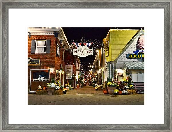 Autumn In Penny Lane - Rehoboth Beach Delaware Framed Print