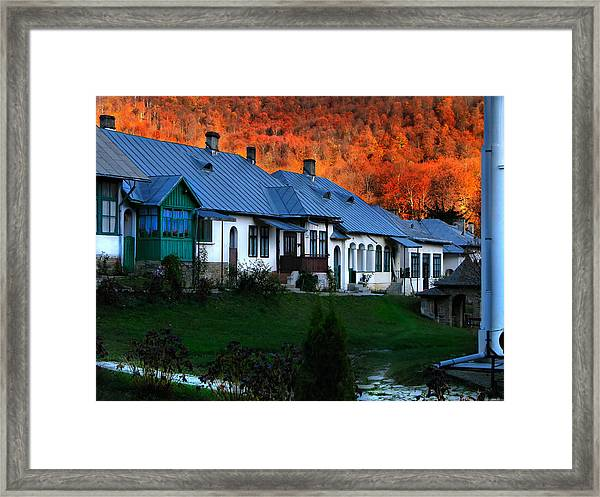 Autumn In Romania Framed Print