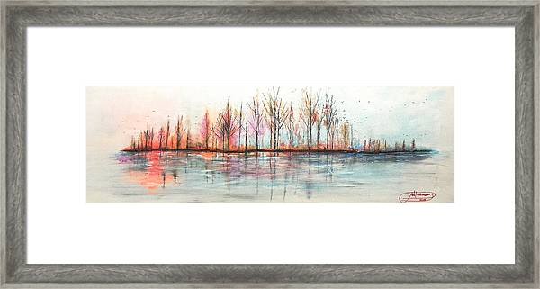 Autumn In The Hamptons Framed Print