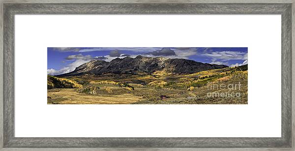 Autumn In The Valley Framed Print