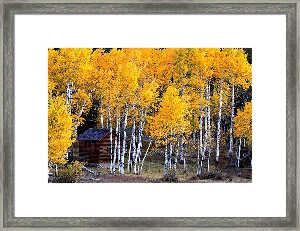 Autumn Inn Framed Print by Darryl Wilkinson