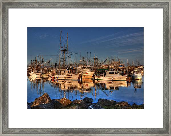 Framed Print featuring the photograph Autumn Light by Randy Hall