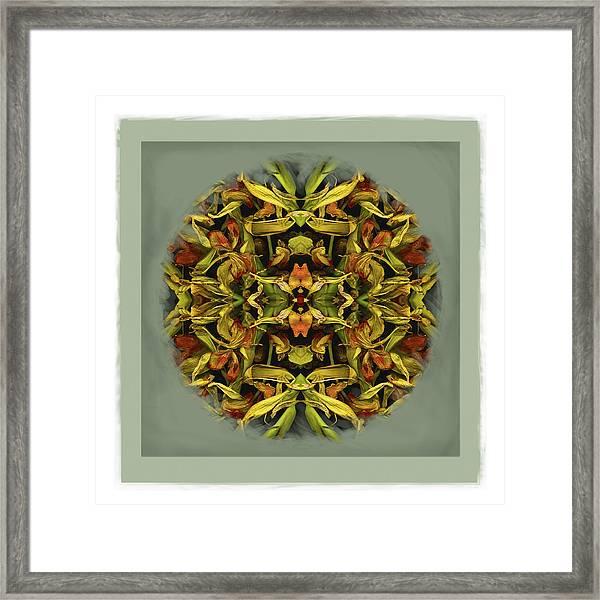 Autumn Mandala Framed Print