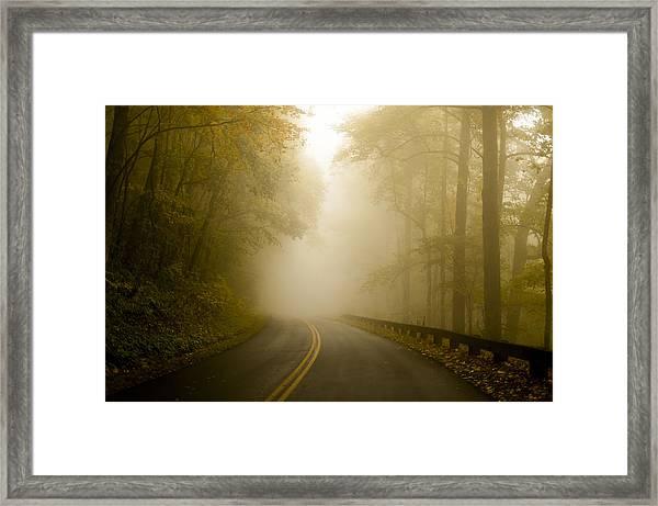 Autumn Mist Blue Ridge Parkway Framed Print