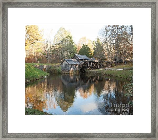 Autumn Morning At Mabry Mill Framed Print