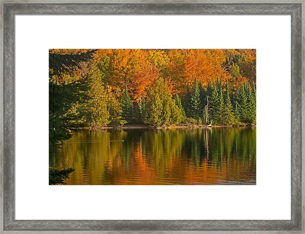 Autumn On Grand Sable Lake Framed Print