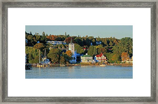 Autumn On Mackinac Island Framed Print