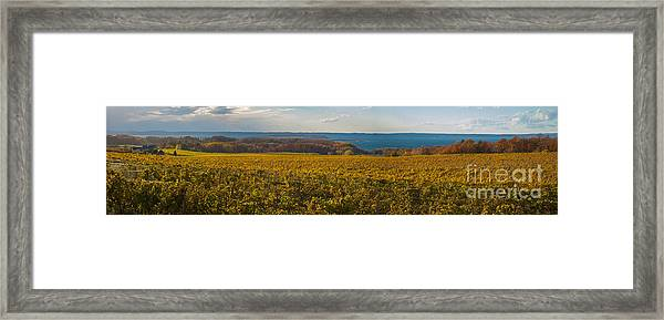Autumn On Old Mission Peninsula Panoramic Framed Print