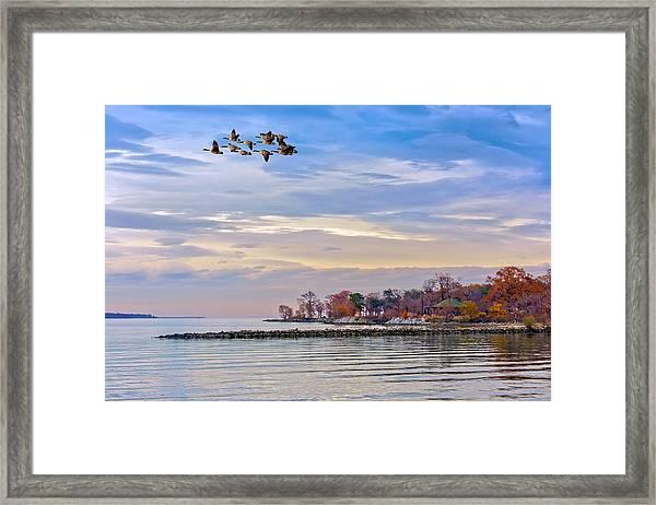 Autumn On The Chesapeake Bay Framed Print