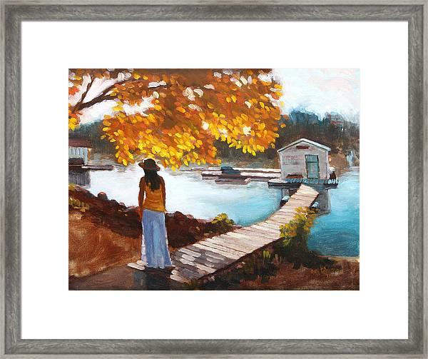 Autumn On The Mississippi Framed Print