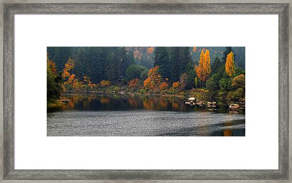 Autumn On The Umpqua Framed Print