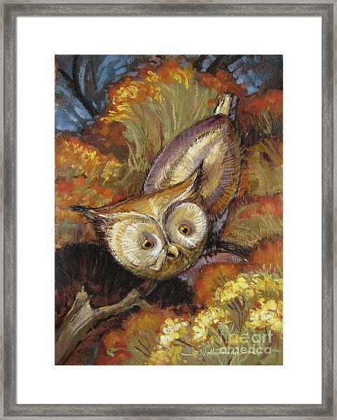 Autumn Owl Framed Print