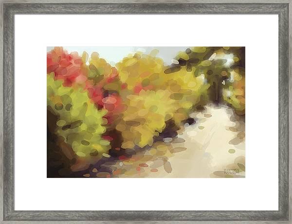 Autumn Path Central Park New York Framed Print
